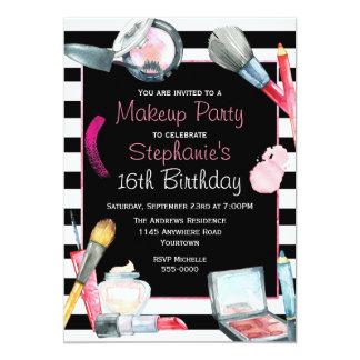 Invitation de fête d'anniversaire de maquillage