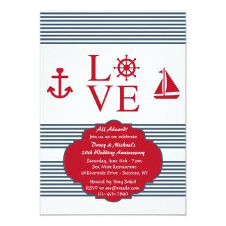 Invitation de fête d'anniversaire de navigation carton d'invitation  12,7 cm x 17,78 cm