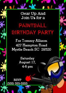 Invitations De Paintball Anniversaires Zazzle Fr
