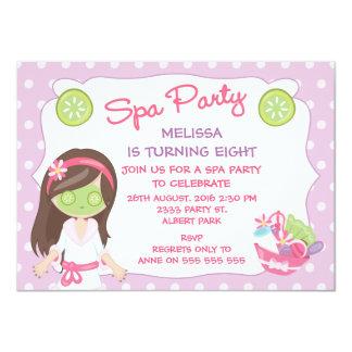 Invitation de fête d'anniversaire de partie de spa
