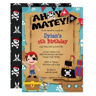 Invitation de fête d'anniversaire de pirate