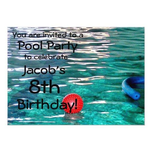 Invitation de f te d 39 anniversaire de piscine zazzle - Piscine bassins anniversaire versailles ...