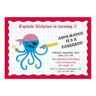 Invitation de fête d'anniversaire de poulpe de