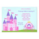 Invitation de fête d'anniversaire de princesse carton d'invitation  12,7 cm x 17,78 cm