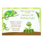 Invitation de fête d'anniversaire de reptile