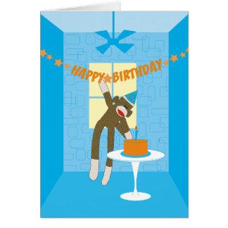 Invitation de fête d'anniversaire de singe de
