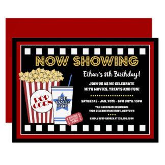 Invitation de fête d'anniversaire de soirée cinéma
