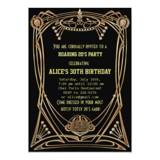 Invitation de fête d'anniversaire de style de