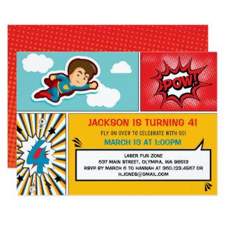 Invitation de fête d'anniversaire de super héros -