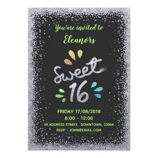 Invitation de fête d'anniversaire de sweet sixteen