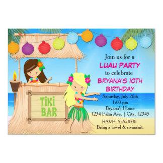 Invitation de fête d'anniversaire de tiki de plage