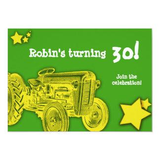 Invitation de fête d'anniversaire de tracteur :