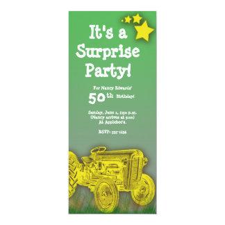 Invitation de fête d'anniversaire de tracteur [âge