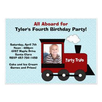 Invitation de fête d'anniversaire de train