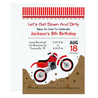 Invitation de fête d'anniversaire de vélo de
