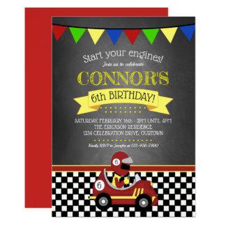 Invitation de fête d'anniversaire de voiture de