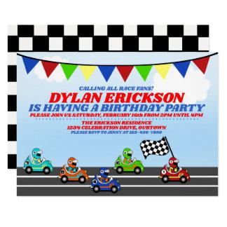 Invitation de fête d'anniversaire de voitures de
