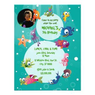Invitation de fête d'anniversaire des enfants de t