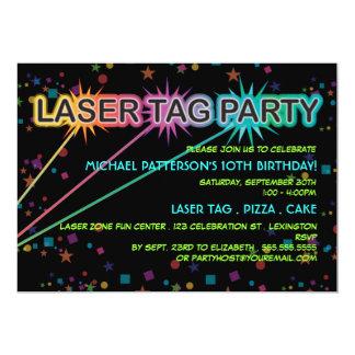 Invitation de fête d'anniversaire d'étiquette de