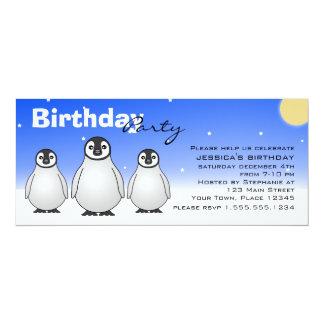 Invitation de fête d'anniversaire d'hiver avec des