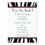 Invitation de fête d'anniversaire d'impression de carton d'invitation  12,7 cm x 17,78 cm