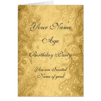 Invitation de fête d'anniversaire d'or tous les