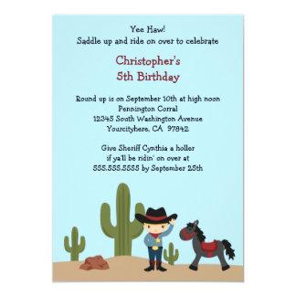 Invitation de fête d'anniversaire du garçon carton d'invitation  12,7 cm x 17,78 cm