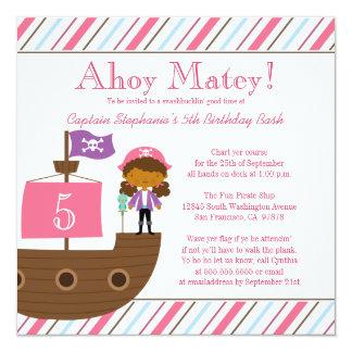 Invitation de fête d'anniversaire du pirate de la