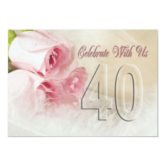 Invitation de fête d'anniversaire pendant 40