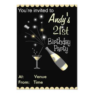 Invitation de fête d'anniversaire - tout âge -