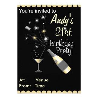 Invitation de fête d'anniversaire - tout âge - adu