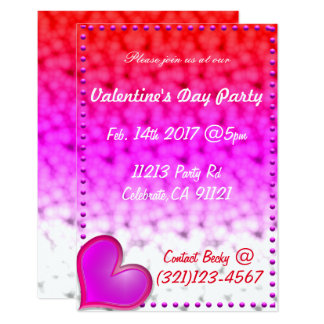 Invitation de fête de jour de Valentines