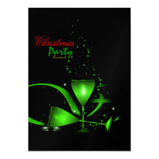 Invitation de fête de Noël Carton D'invitation 12,7 Cm X 17,78 Cm