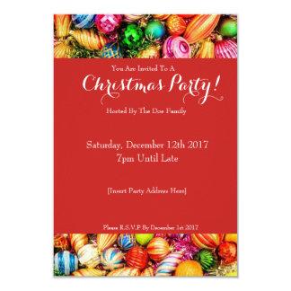 Invitation de fête de Noël d'amusement
