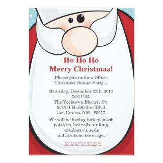 invitation de fête de Noël de 5x7 le père noël