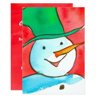 Invitation de fête de Noël de bonhomme de neige