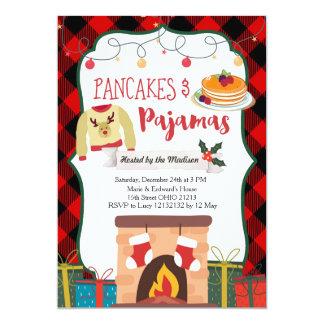 Invitation de fête de Noël de crêpes et de pyjamas