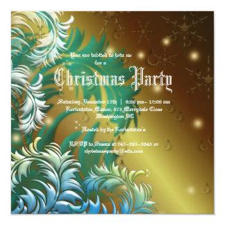 Invitation de fête de Noël de flocons de neige de Carton D'invitation 13,33 Cm