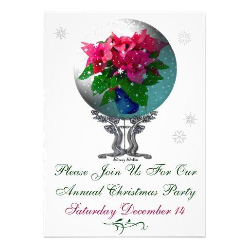 Invitation de fête de Noël de Snowglobe