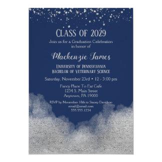 Invitation de fête de remise des diplômes d'argent