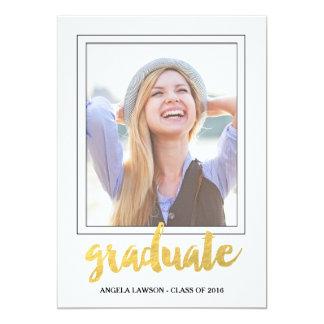 Invitation de fête de remise des diplômes de photo carton d'invitation  12,7 cm x 17,78 cm