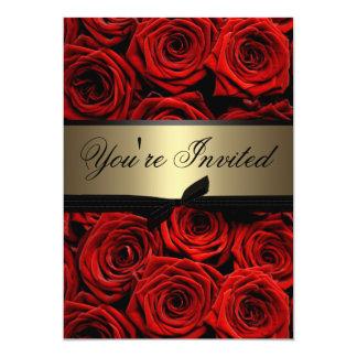Invitation de fête de remise des diplômes de roses