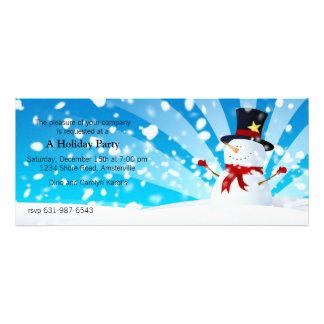 Invitation de fête de vacances de bonhomme de neig