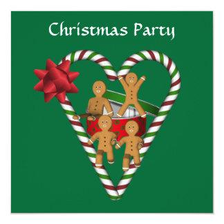 Invitation de fête de vacances de bonhommes en carton d'invitation  13,33 cm