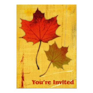 Invitation de feuille d'automne