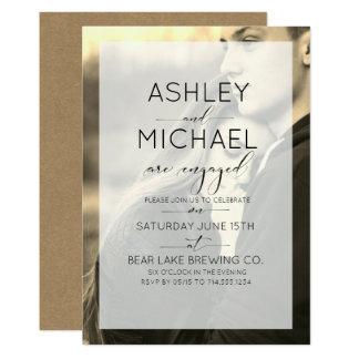 Invitation de fiançailles de photo de typographie