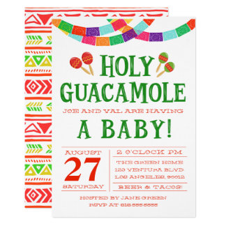 INVITATION DE FIESTA DE BABY SHOWER