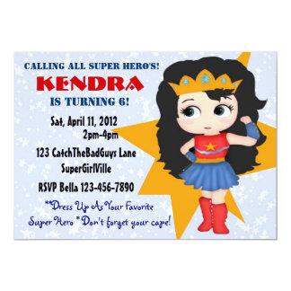 Invitation de fille de super héros
