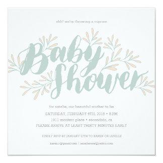Invitation de floraison de baby shower
