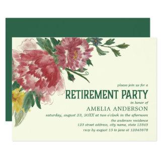 Invitation de floraison de partie de retraite de